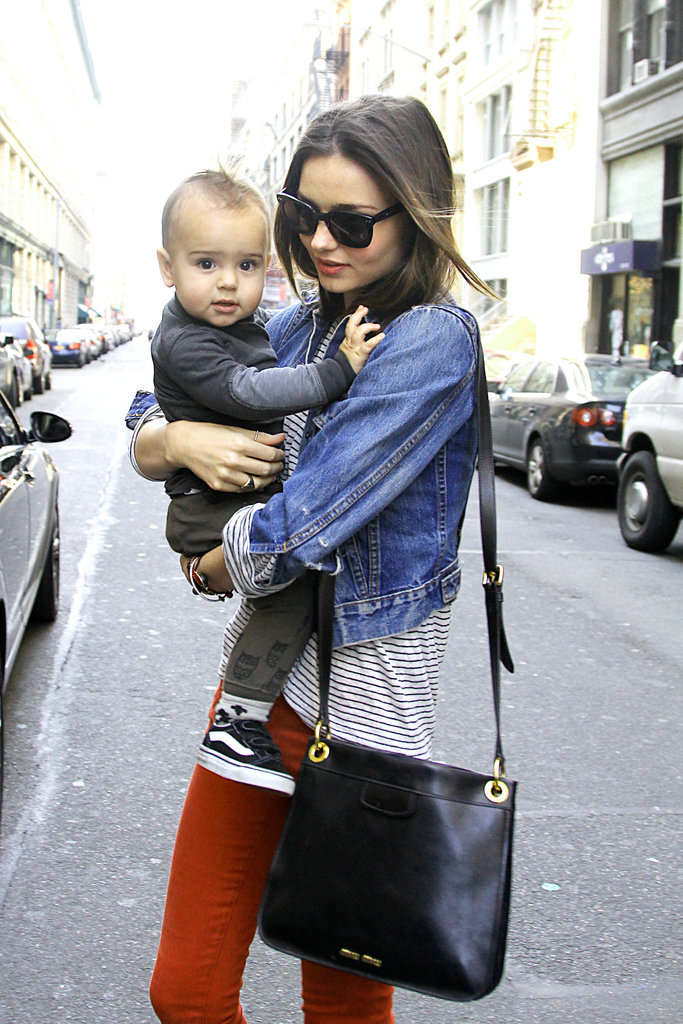 Miranda's best accessory during a NYC stroll in Mar. 2012 was Flynn!