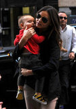 Miranda carried her adorable son Flynn in NYC in Mar. 2012.