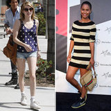 2 New Ways to Work Your Sneakers — One With Emma Roberts's Exact Polka-Dot Tank!