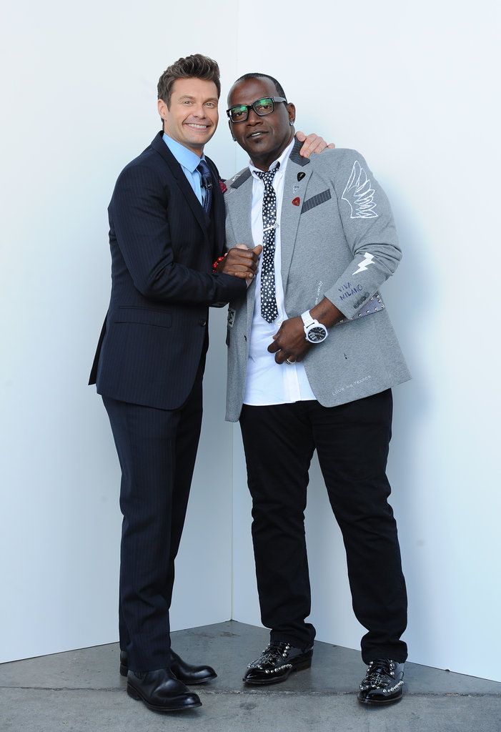 Ryan Seacrest and Randy Jackson shared a hug backstage.
