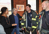 Robert De Niro spent time with an FDNY fireman at the Jury lunch for the 2012 Tribeca Film Festival.