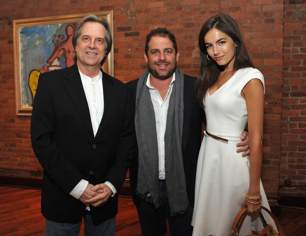 Stephen Hannock, Brett Ratner, and Camilla Belle got together for a photo at the 2012 Tribeca Film Festival Jury lunch.