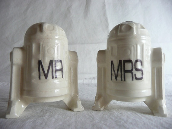 Ceramic R2D2 cake toppers ($24) are the droids you've been looking for.