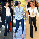Style out a classic white blouse with these celebrity stylers' inspiration.