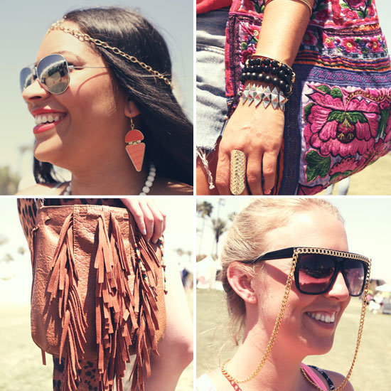 Take a look at Coachella weekend one's best accessories — 40 snaps of the coolest bags, shoes, and festival jewels.