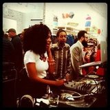 Solange Knowles was the house DJ at Splendid's store opening.