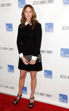 Julia Roberts got in on the collared-dress trend in a Victoria Victoria Beckham sheath.