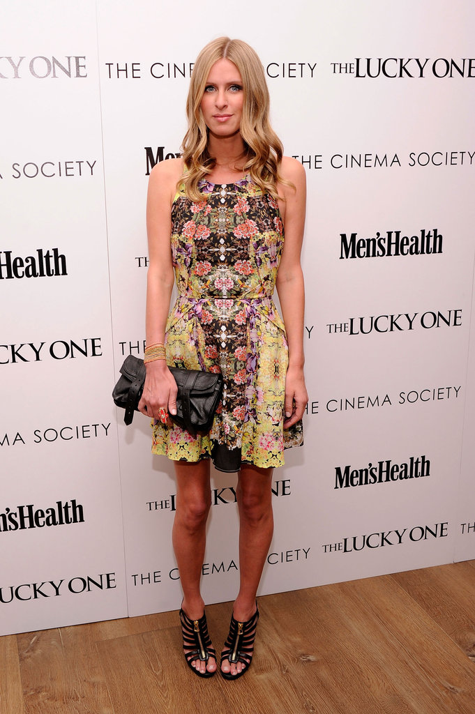Nicky Hilton wore an eye-catching Topshop frock to the NYC screening of The Lucky One.