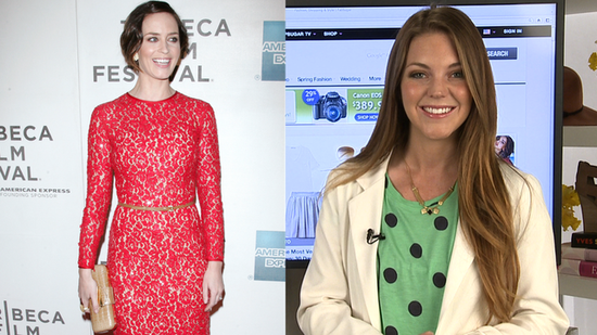 Emily Blunt Stuns in Green and Red at the Tribeca Film Festival!