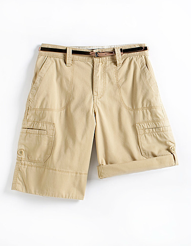 Contrast these boyfriend-inspired shorts with delicate ankle-wrap sandals and a silk tank for a feminine spin. CK Jeans Belted Cotton Cargo Shorts ($50)