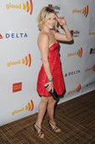 Ali Larter wore red.