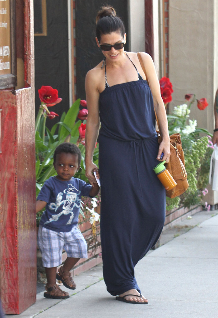 Sandra Bullock Hangs Out With Little Louis and a New Guy