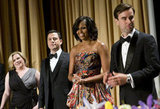 Michelle Obama and Jimmy Kimmel stood up at the event.