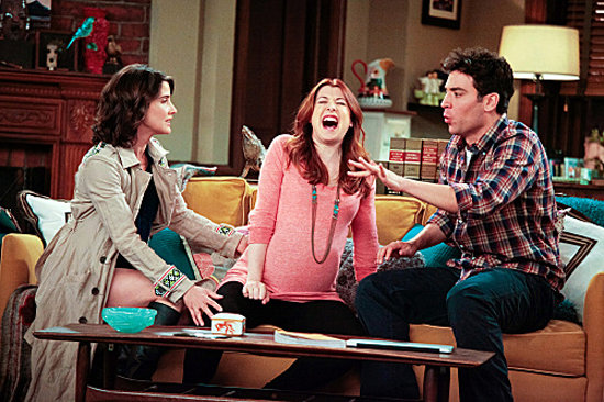 Alyson Hannigan as Lily, Josh Radnor as Ted, and Cobie Smulders as Robin on How I Met Your Mother. Photo courtesy of CBS