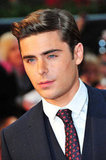 Zac Efron hit the red carpet for the European premiere of The Lucky One.