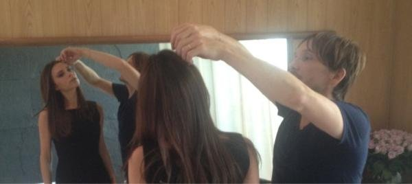 Ken Paves styled Victoria Beckham's hair. Source: Twitter user victoriabeckham