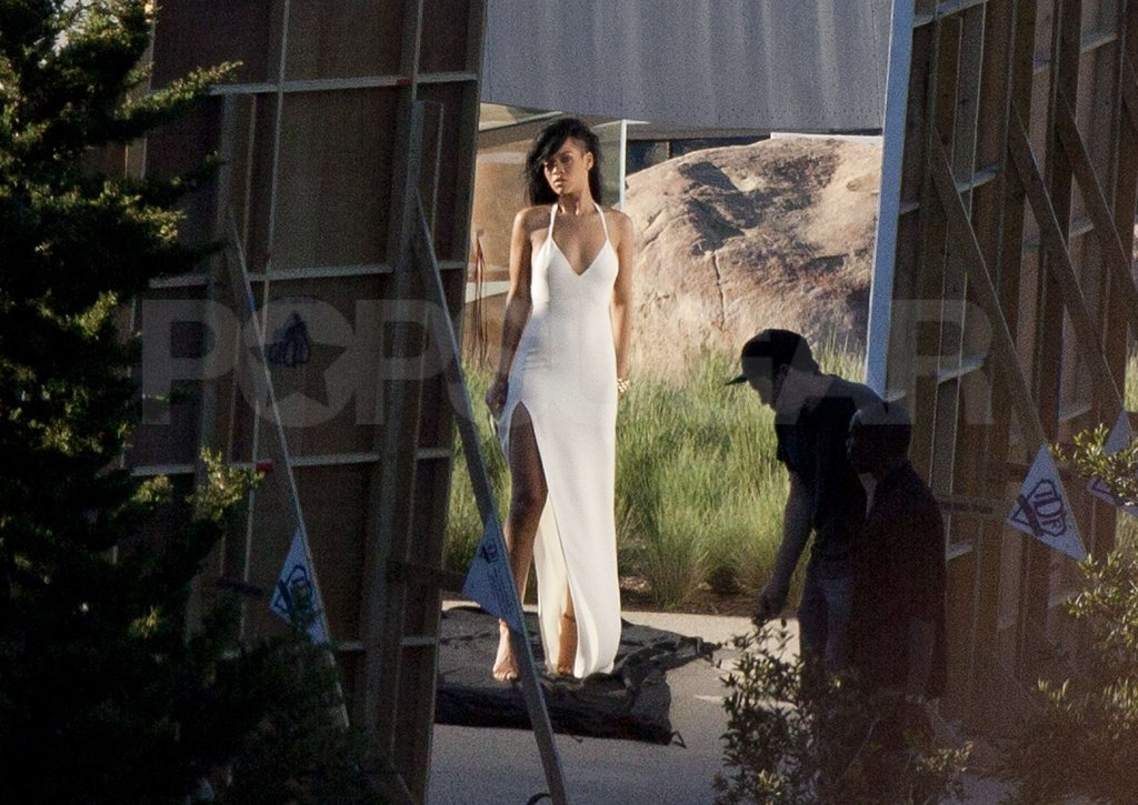 Rihanna posed in Malibu for a shoot for Harper's Bazaar.