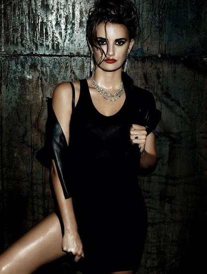Penélope Cruz got dark and edgy for a sexy spread in Interview magazine's January 2010 issue. Source: Interview Magazine