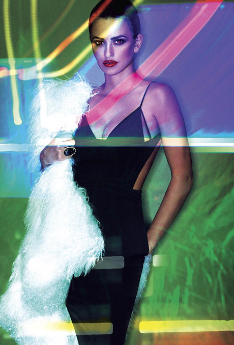 Penélope Cruz channeled a Robert Palmer video vixen in V magazine's 2011 Transformation issue. Source: V Magazine