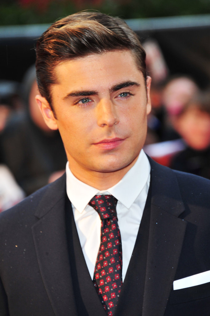 Zac Efron attended the European premiere of The Lucky One.