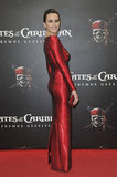 Penélope Cruz showed off her curves in a fitted red column gown for the Berlin premiere of Pirates of the Caribbean: On Stranger Tides in May 2011.