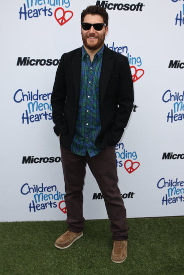 Adam Pally sported a new beard as he came out to support Children Mending Hearts.