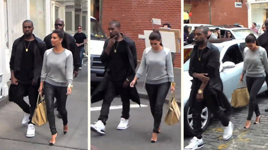 "Video: ""Happy"" Kim Kardashian and Kanye West's Romantic NYC Stroll"