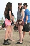 Kristen Stewart Hits Coachella Weekend Two in Short Shorts and Robert's Hat