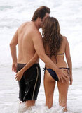 Penélope Cruz wore a tiny swimsuit while on vacation in Brazil with husband Javier Bardem in January 2010.