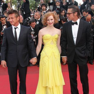 Brad Pitt, Sean Penn Are Jessica Chastain's Best Accessories