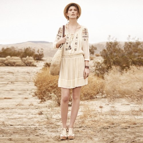"This flowy frock screams ""wear me in the desert.""  Club Monaco Kayla Silk Dress ($229)"