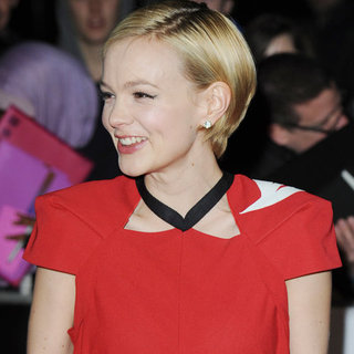Carey Mulligan Wore Prada Wedding Dress and Pink Wellies