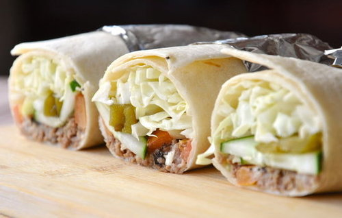 Jalapeno burger burritos