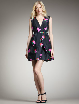 Marc by Marc Jacobs Bird-Print Taffeta Dress ($628)