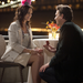 Emily Blunt's character, Violet, gets proposed to in a fabulous and shiny ensemble and jeweled pumps.
