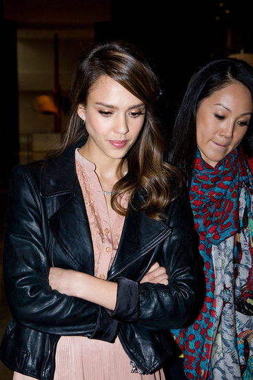Jessica Alba arrived in Seoul, South Korea.