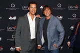Matthew McConaughey posed with director Richard Linklater at the New York premiere of Bernie.