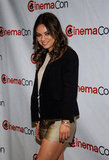 Mila Kunis was all smiles at CinemaCon in Las Vegas.