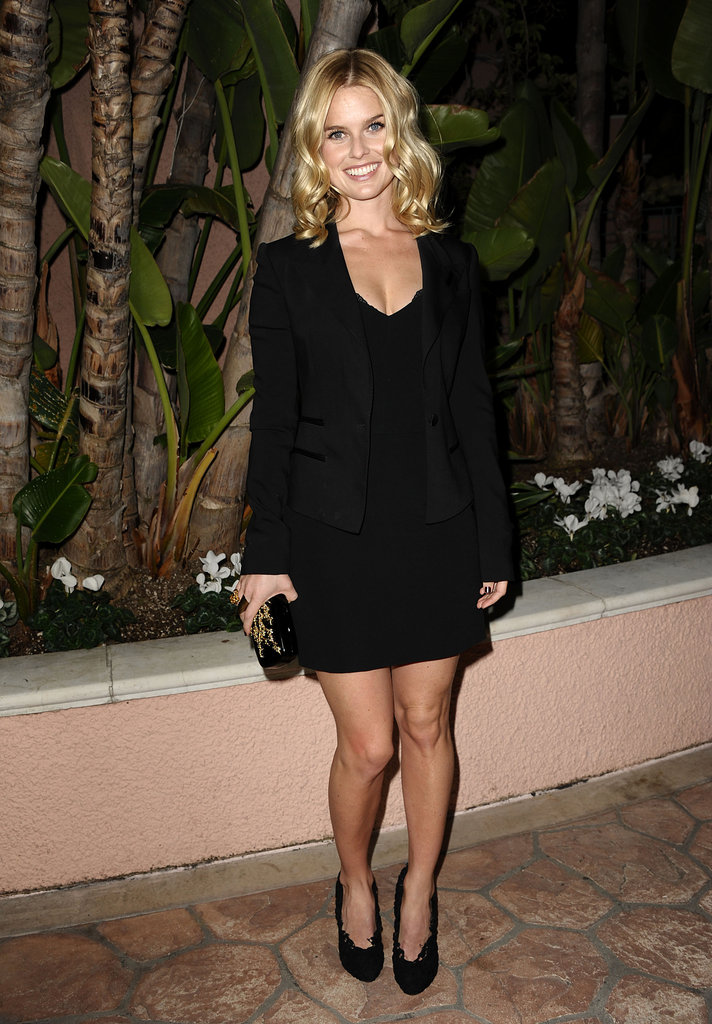 Alice Eve opted for a classically chic, all-black look at a dinner in Beverly Hills in December 2011.