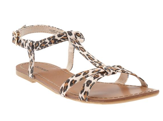For a more exotic vibe, opt for a tasteful leopard print-infused sandal. Old Navy Animal-Print Cross-Front Sandals ($20)