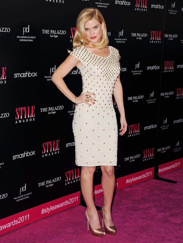 A sexy-fit, gold-studded sheath at the 2011 Hollywood Style Awards.