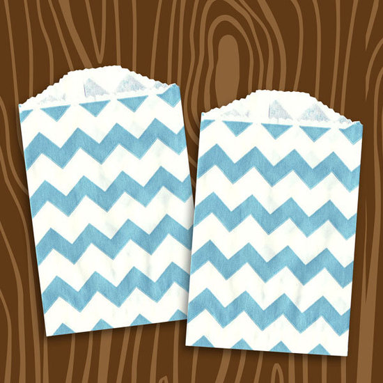Layer Cake Shop&#039;s Blue Chevron Stripe Paper Bags ($4 For 24)