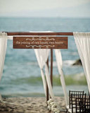 Have a special quote or phrase that speaks to you? Hang it from a wooden archway to make it part of your big day. Photo by Photoshoots Vallarta via Style Me Pretty