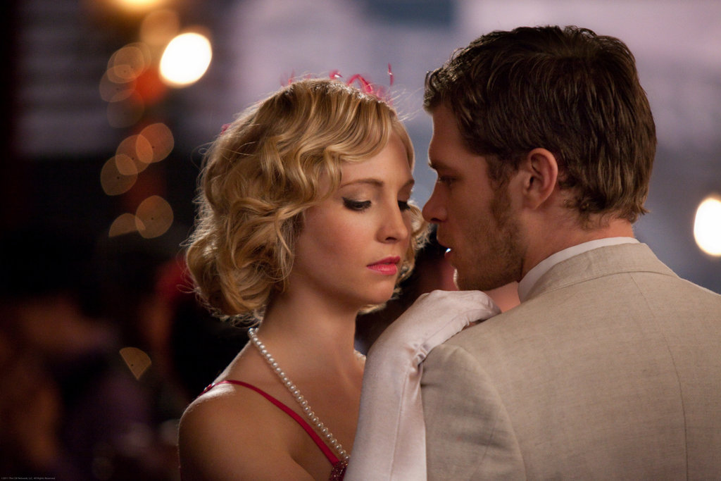 Candice Accola as Caroline and Joseph Morgan as Klaus on The Vampire Diaries.