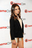 Mila Kunis rocked gold shorts at CinemaCon in Las Vegas.