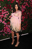 A pregnant Julia Restoin-Roitfeld wore Prada to the Chanel dinner party at the 2012 Tribeca Film Festival.