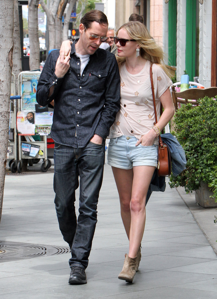 Kate Bosworth and Michael Polish looked cute together as they walked in LA.