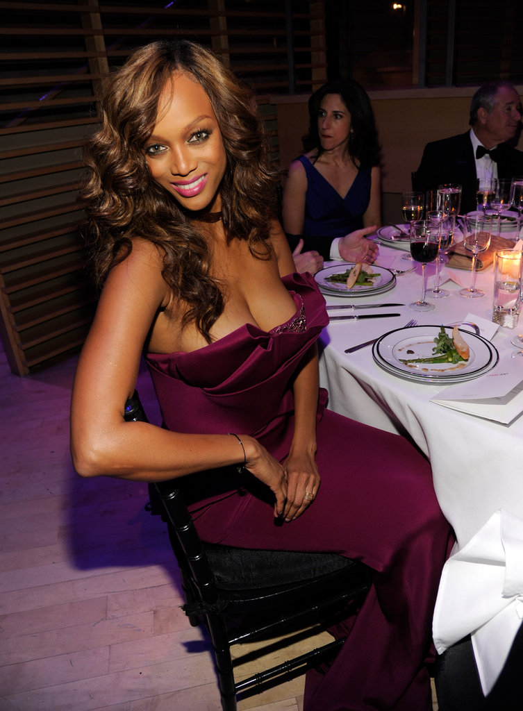 Tyra Banks took a seat at the Time 100 gala in NYC.