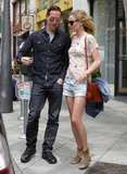 Kate Bosworth and Michael Polish stopped to chat after grabbing lunch in LA.