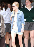 Kate sported short shorts and a denim jacket in LA.